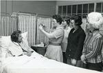Black and white photograph from Red Cross News of Marion Boorman of Kent branch March 1976