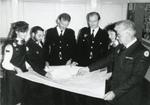 Black and white photograph from Red Cross News January 1986