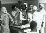 Black and white photograph of ICRC work in N D'jamena April 1980