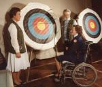 Colour photograph of activities for the disabled