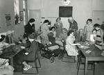 Black and white photograph of a BRCS club for the disabled, Farnham Surrey