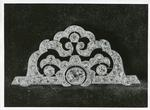 Black and white photograph of a diamond brooch presented to Dame Beryl Oliver by HM The Queen after thirty six years service to the British Red Cross