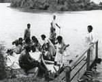 Black and white photograph of the Youth Division in Fiji 1971