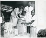Volunteers from the Jamaican Red Cross