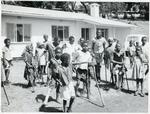Black and white photograph of a disabled children's centre in Kenya