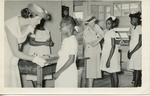 Black and white photograph of the St Kitts-Nevis-Anguilla Junior Red Cross