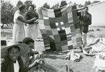 Black and white photograph of activities of the Lesotho Red Cross