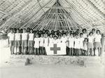 Black and white photograph of Gilbert and Ellice Islands Junior Red Cross