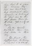 Black and white photograph of the second page of a letter from Florence Nightingale to Mr Rawlinson