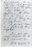 Black and white photograph of the fourth page of a letter from Florence Nightingale to Mr Rawlinson