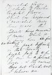 Black and white photograph of the fifth page of a letter from Florence Nightingale to Mr Rawlinson