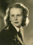 Black and white photograph of Mildred Mary Lawrence during the Second World War