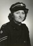 Black and white photograph of [Winifred Bullock] during the Second World War