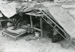 Black and white photograph of Red Cross relief work in Somalia 1981