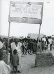 Black and white photograph of Red Cross work in Ethiopia 1974