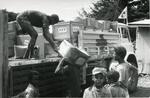 Black and white photograph of Red Cross work in Ethiopia 1978
