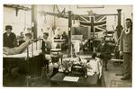 V.A.Ds attending to wounded soldiers in a hospital in Cambridgeshire