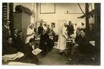 V.A.D.s, hospital staff and patients in a Cambridgeshire [?] hospital.