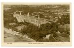 Postcard featuring an aerial view of Netley hospital