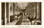 Postcard featuring a corridor in Netley Hospital. Hampshire