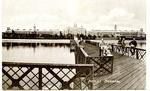 Postcard featuring Netley Hospital, pier and patients