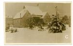 Postcard featuring the Red Cross hospital on a winter's day in Netley, Hampshire. 1916