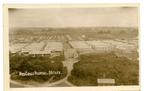 Postcard featuring an aerial view of the Red Cross Hospital and tents 1916.