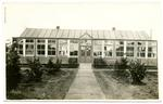 Postcard featuring the Red Cross Hospital Reading Room. Netley, Hampshire 1916