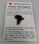 Badge: British Red Cross Appeal for Somalia