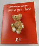 'Thank you' bear badge: Red Cross Week 2005