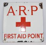 Sign: 'A.R.P. First Aid Point'