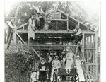 Members of Surrey/21 Detachment building a Garage