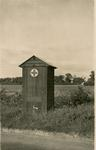 Photograph of the British Red Cross First Aid Hut at Arrington