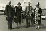 Photograph of Lady Limerick and Lord and Lady Woolton attending the Stockholm Conference