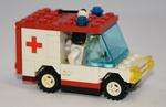 Small Lego ambulance with driver and medical kit