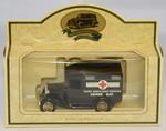 Model ambulance marked 'Home Ambulance Service Herne Bay'