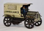 Wind up toy ambulance (Wells O London Trademark)